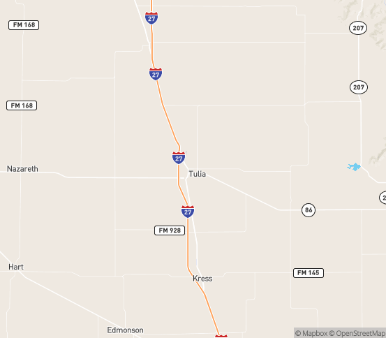 Map of Tulia, TX