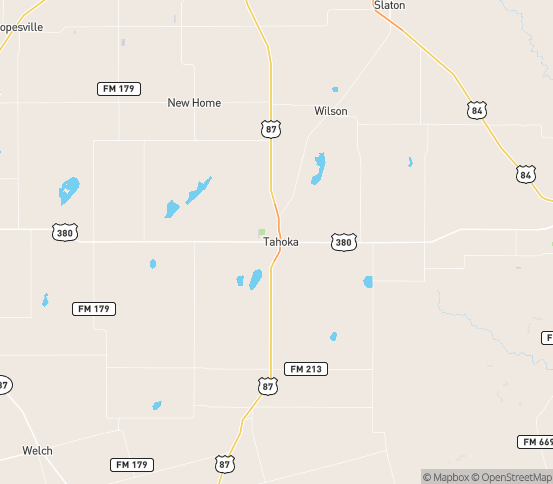 Map of Tahoka, TX