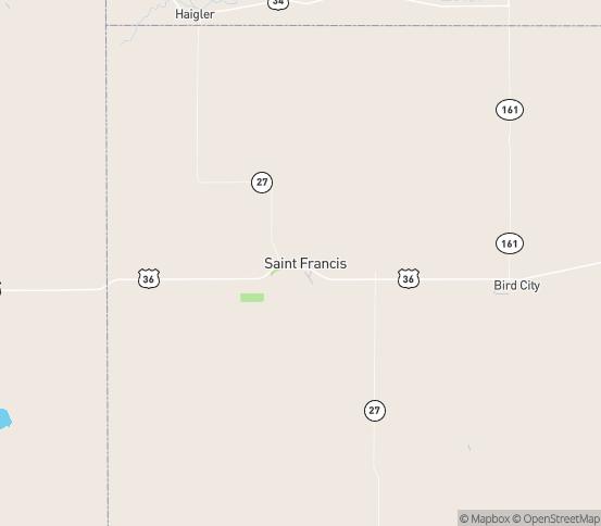 Map of St Francis, KS
