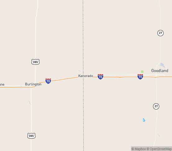 Map of Kanorado, KS