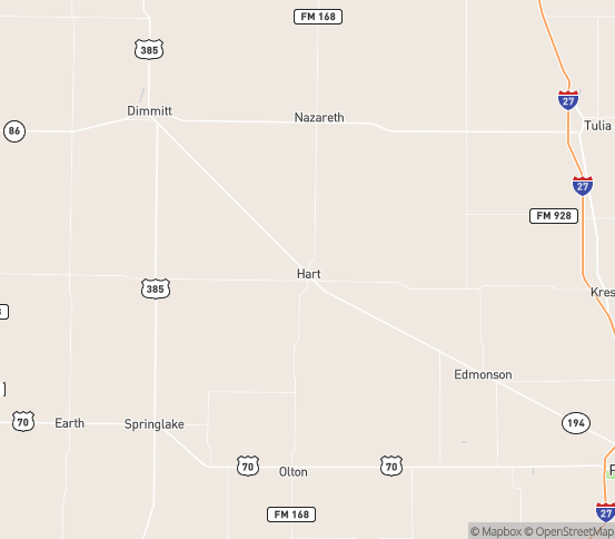 Map of Hart, TX
