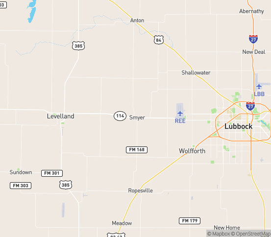 Map of Wolfforth, TX