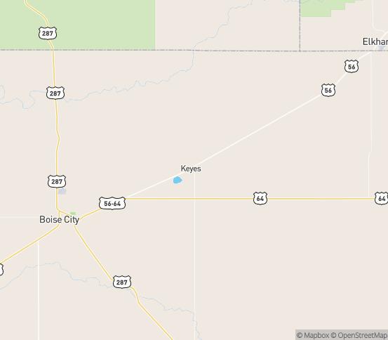 Map of Keyes, OK