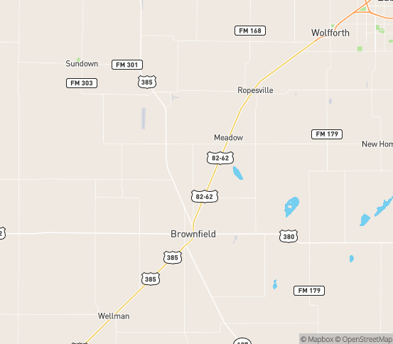 Map of Meadow, TX