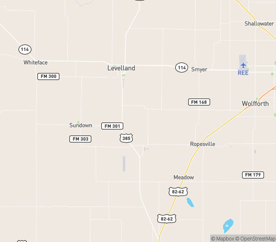 Map of Levelland, TX