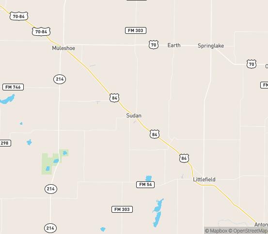 Map of Sudan, TX