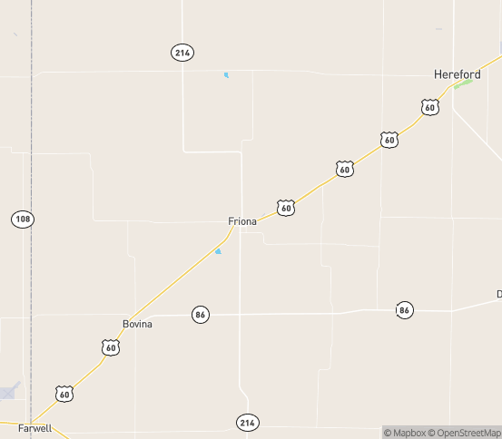 Map of Friona, TX