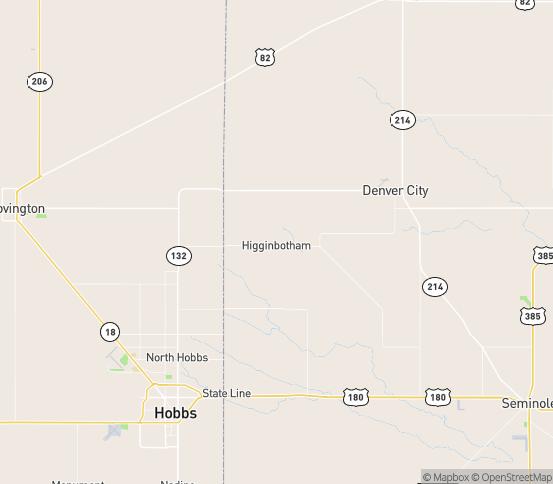 Map of Denver City, TX