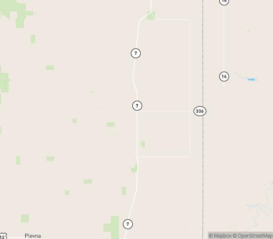 Map of Plevna, MT