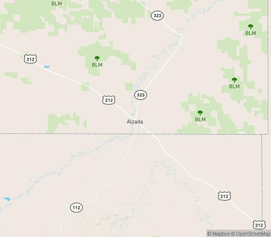 Map of Alzada, MT
