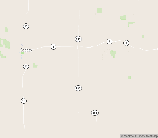 Map of Flaxville, MT