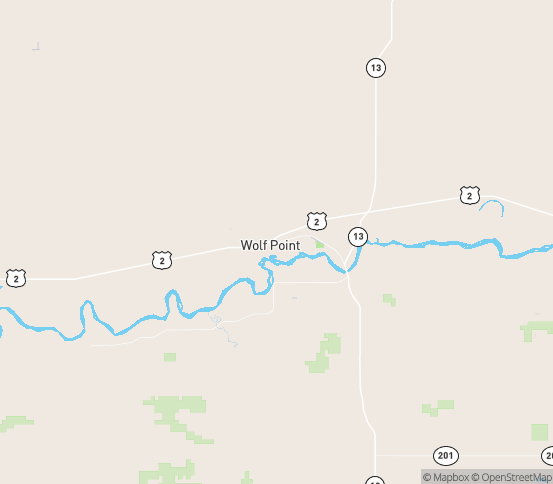 Map of Wolf Point, MT