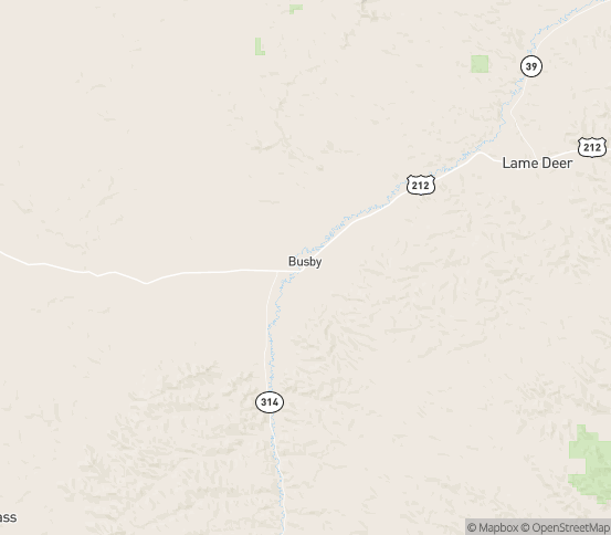 Map of Busby, MT
