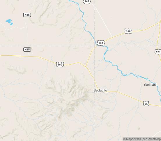 Map of Teec Nos Pos, AZ