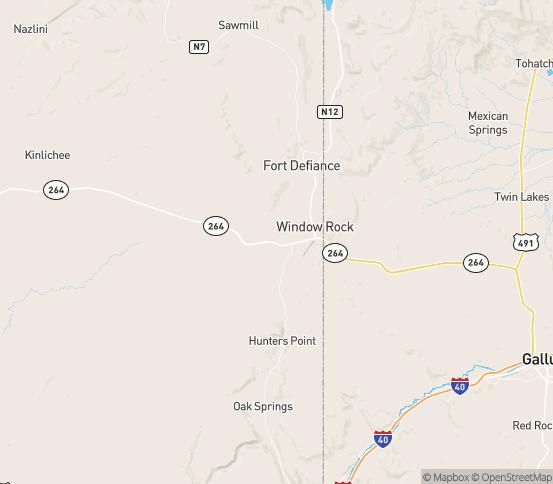 Map of Ganado, AZ