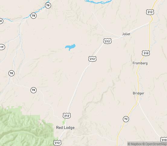 Map of Roberts, MT