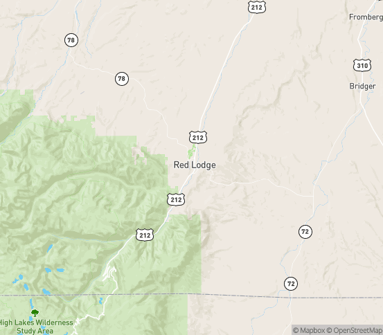 Map of Red Lodge, MT