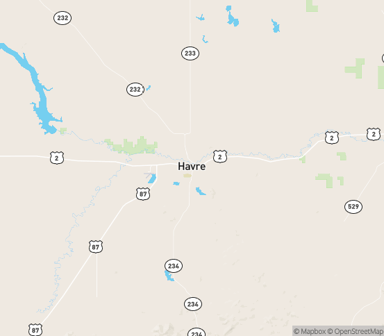 Map of Havre, MT