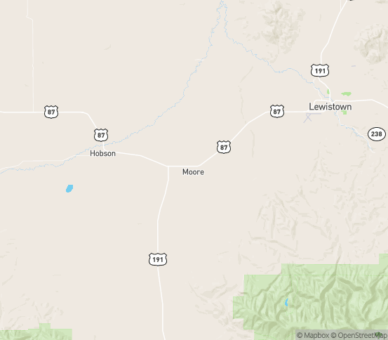 Map of Moore, MT