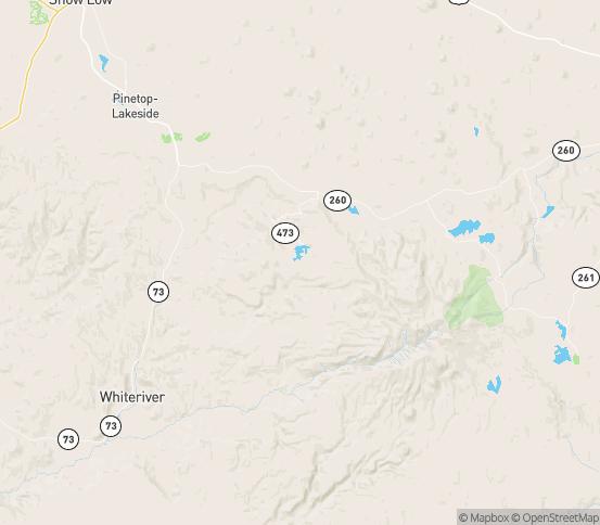 Map of Pinetop, AZ