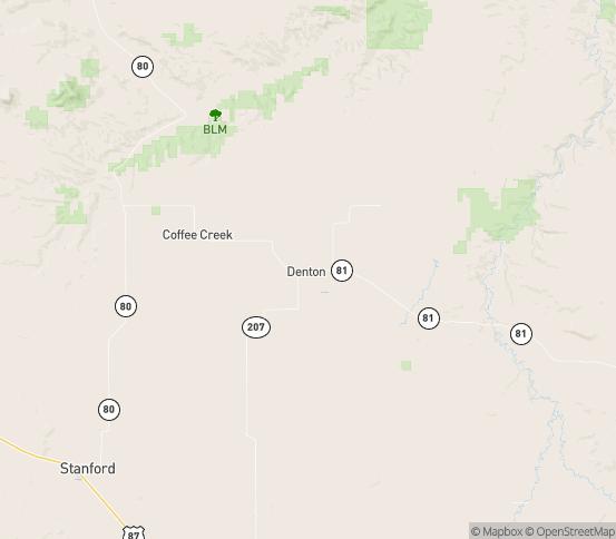Map of Denton, MT