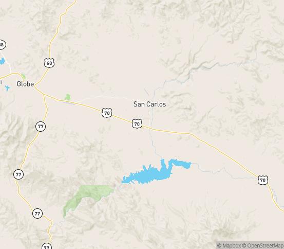Map of Peridot, AZ