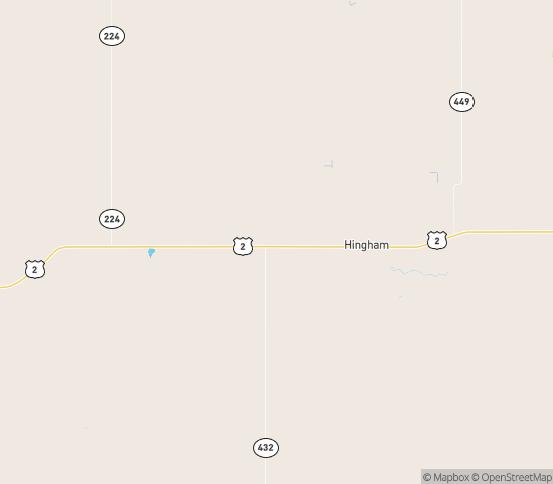 Map of Rudyard, MT
