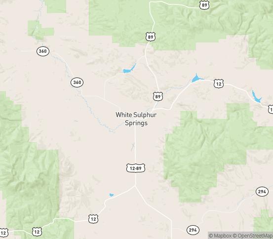Map of White Sulphur Springs, MT