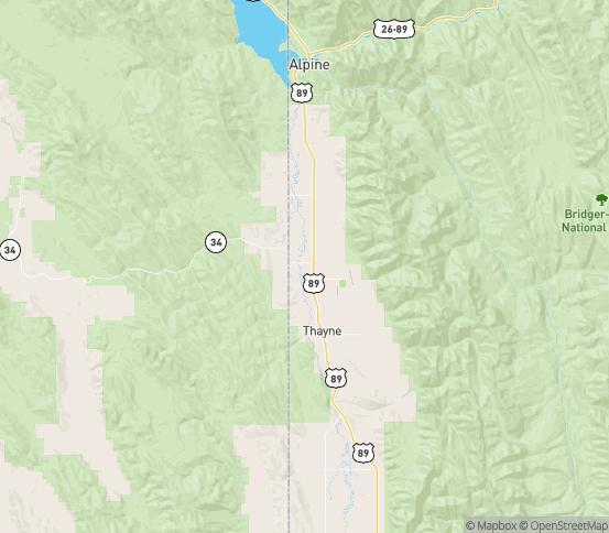 Map of Wayan, ID