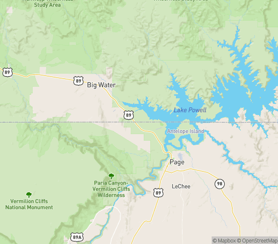 Map of Marble Canyon, AZ
