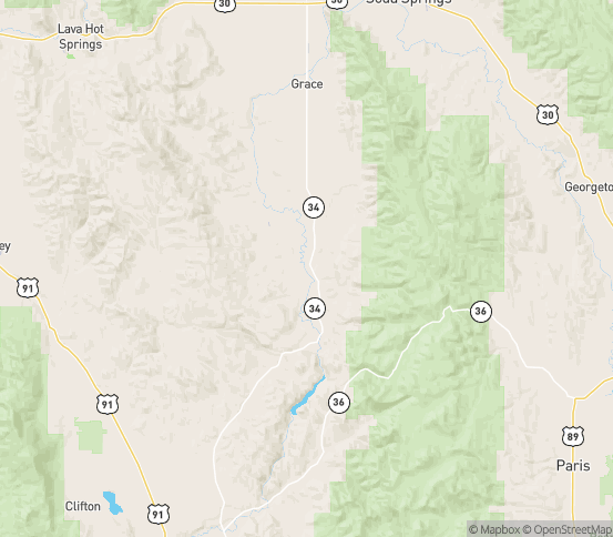 Map of Grace, ID