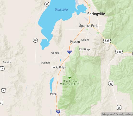 Map of Santaquin, UT