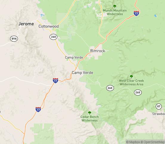 Map of Camp Verde, AZ