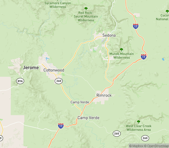 Map of Cornville, AZ