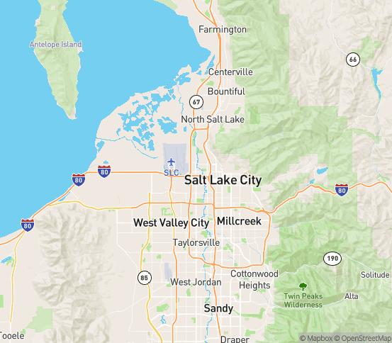 Map of S Salt Lake, UT