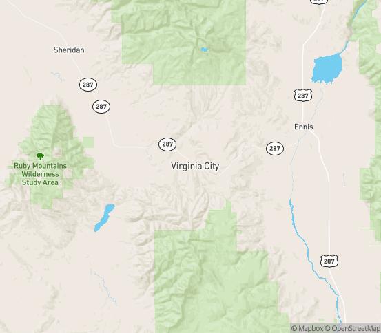 Map of Virginia City, MT
