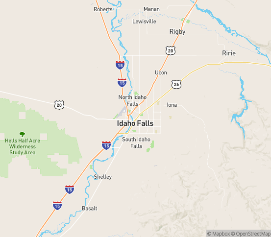 Map of Idaho Falls, ID
