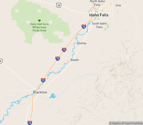 Map of Firth, ID