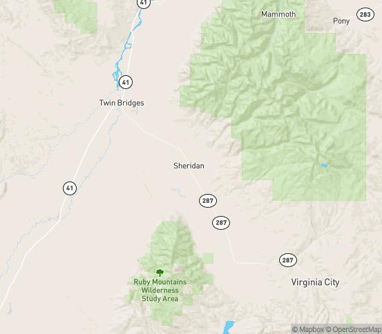 Map of Sheridan, MT