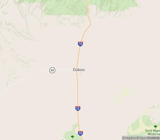 Map of Dubois, ID