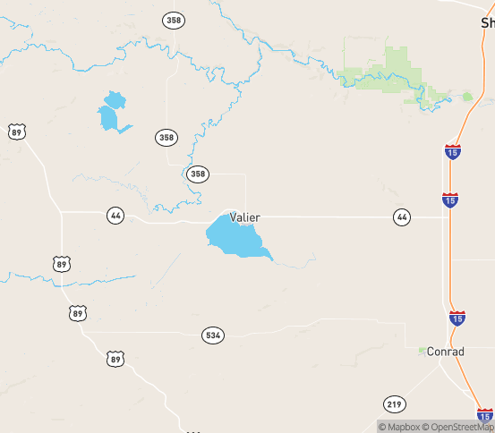 Map of Valier, MT