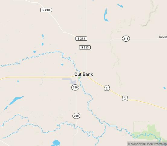 Map of Cut Bank, MT