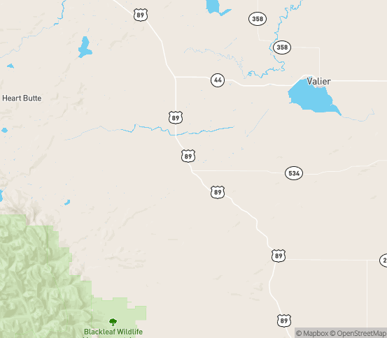Map of Pendroy, MT