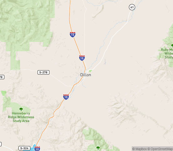 Map of Dillon, MT