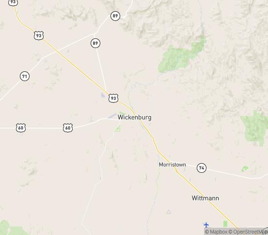Map of Wickenburg, AZ
