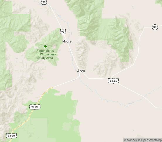 Map of Arco, ID