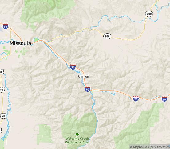 Map of Clinton, MT