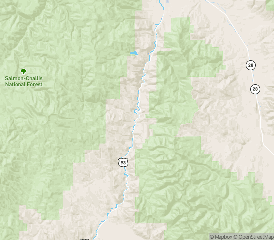 Map of Ellis, ID