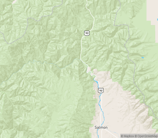 Map of North Fork, ID