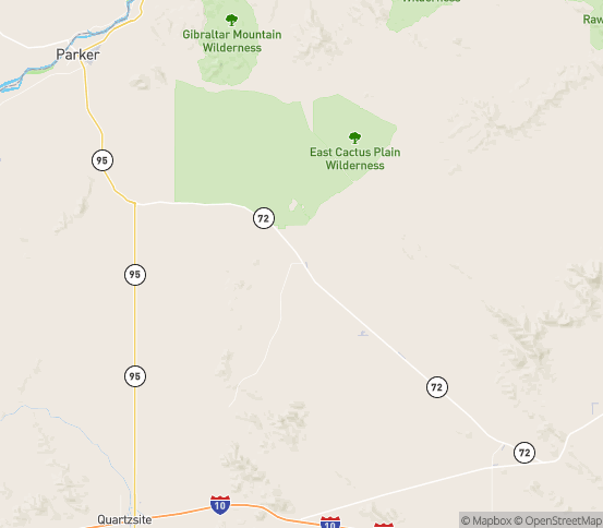 Map of Parker, AZ